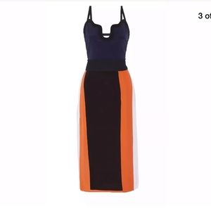 VICTORIA BECKHAM  Color block Dress 8 $1200